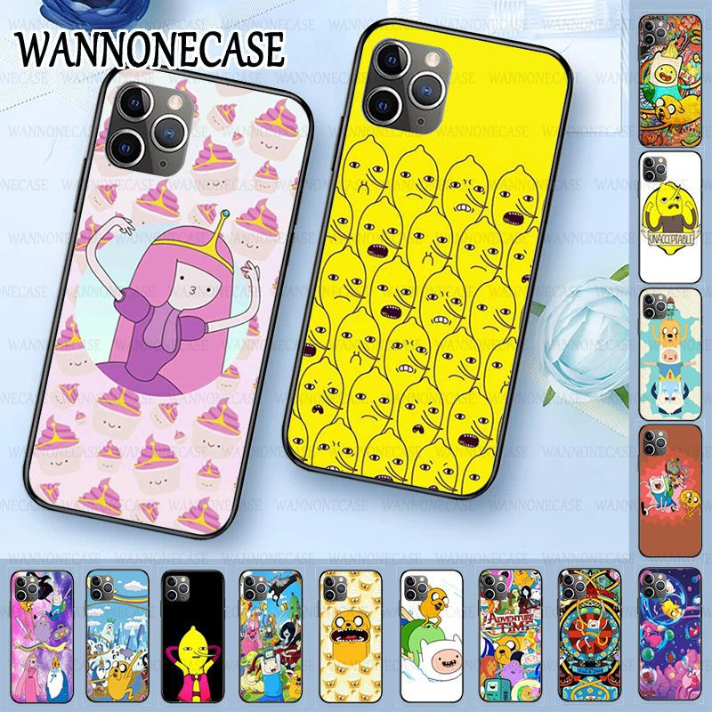 hot Soft Phone Case For iphone 11pro 5s 6s 7 8plus x xs xr xsmax coque Cellphones Adventure Time with Jake Finn bmo