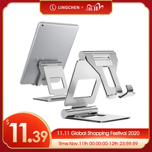 LINGCHEN Tablet Stand Adjustable Foldable Tablet Holder For iPad 7.9 9.7 Aluminium Alloy Desktop Stand For iPad mini/iPad Air