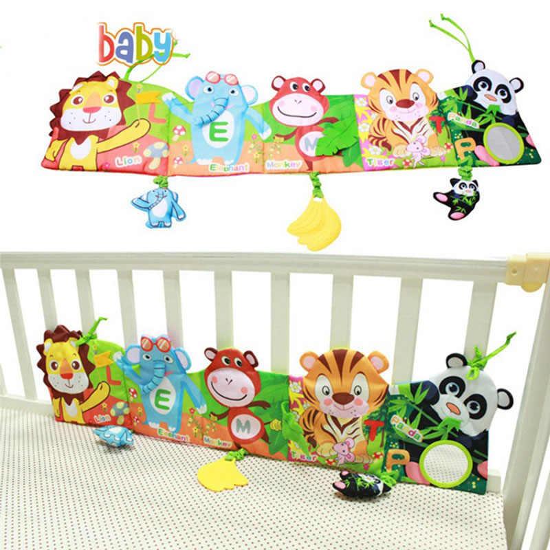 Baby Spielzeug Tuch Buch Neugeborenen Bett Aufkleber Stoßstange schwarz und Weiß Farbe Tier Geschichte Tuch Bücher Montessori Kinder baby Rassel spielzeug