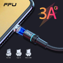 FPU Magnetic Cable 3A Fast Charging For iPhone Micro USB Type C Magnet Charger Adapter USBC Microusb Mobile Phone Cables
