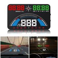 Wiiyii auto hud 5.8 head head cabeça up display velocidade do carro projetor obd2 ii euobd excesso de velocidade aviso brisa projetor sistema de alarme s7