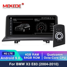 MEKEDE IPS 화면 안 드 로이드 10 4 + 64G 자동차 GPS Navi 화면 BMW X3 E83 2003 2009 멀티미디어 레코더 BT WIFI Google 4G LTE
