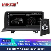 MEKEDE écran IPS pour BMW, Android 10, 4/64 go, navigation GPS, BT, WIFI, Google, 4G LTE, enregistreur multimédia pour voiture BMW X3 E83 (2003 2009)