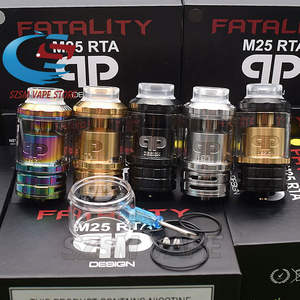 New qp fatality m25 rta 4ML 5.5ML Glass tank 25mm Diameter Top airflow Adjustment  Atomizers VS Fatality RTA Vapor Giant v6 S