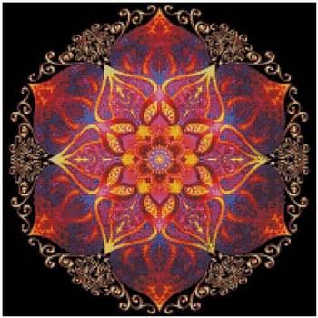 Mandala patterns Counted Cross Stitch 11CT 14CT DIY Chinese Kits Embroidery Needlework Sets