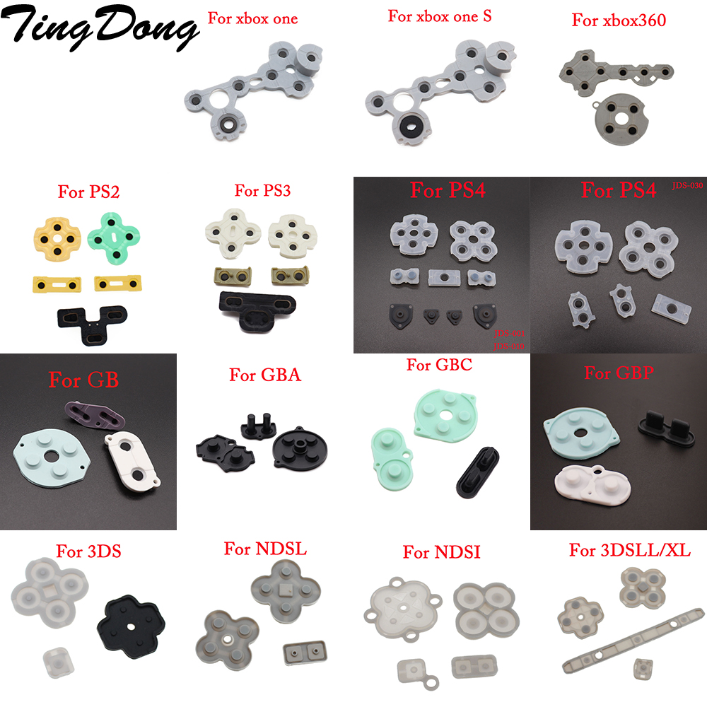 Rubber Conductive Buttons A-B D-pad for Game Boy Classic GB GBC GBA Silicone Start Select Keypad For ps4 ps2 NGC NDSL NEW 3DS(China)
