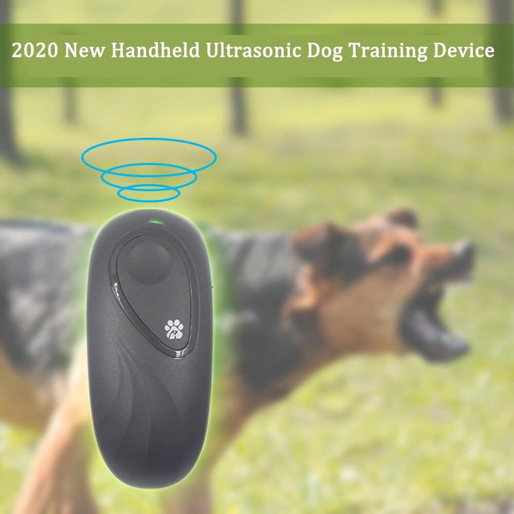 Portable Handheld Ultrasonic Dog Anti Barking Stop Repeller Regulator for Repellent Simulator Device 2 in 1 Anti Barking Trainer