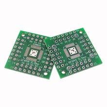 5 pces qfn48 para dip48/qfn44, qfp48, qfp44, pqfp, placa de conversão lqfp/placa de adaptador