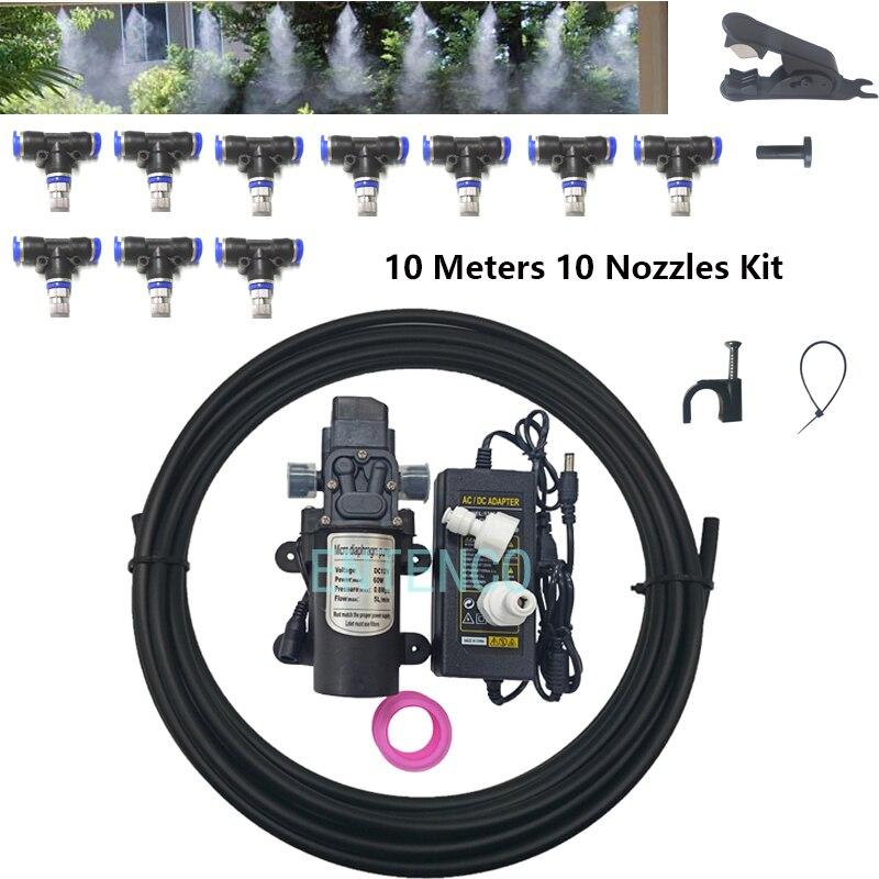 DIY машина тумана для дезинфекции туннеля 10 м 20 м Открытый небулайзер насос Система запотевания комплект с Т-коннекторами