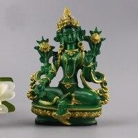 Tibet Tibetan Buddhism Statue Green Tara Buddha Statue