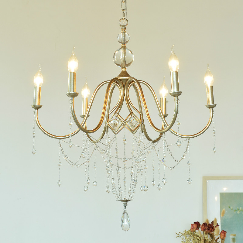 Modern Luxury Pendant Light Romantic Candle Crystal Hanging Lamp Living Room Dining Room Lamp Bedroom Home Deco Light Fixtures