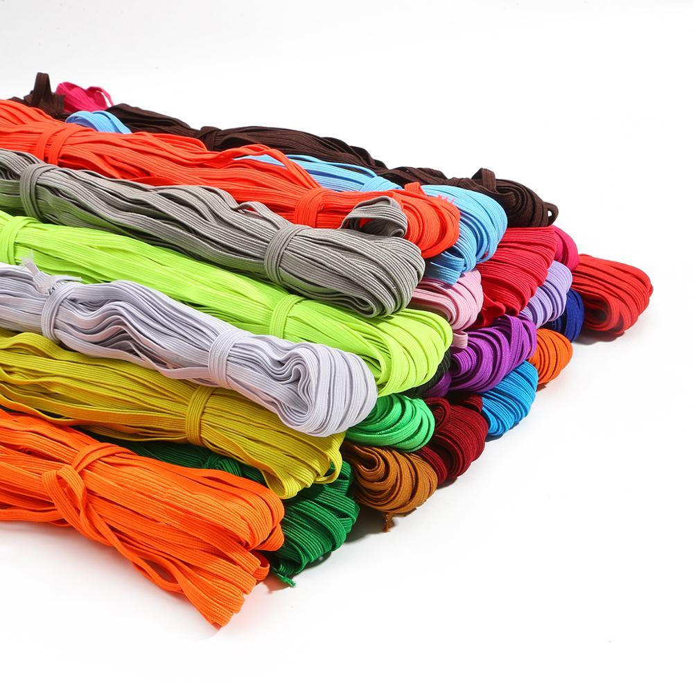 5 Meter/los 6mm Bunte Elastische Bands Seil Gummiband Elastische Linie Spandex Band Spitze Trim Taille Band Nähen Garment zubehör