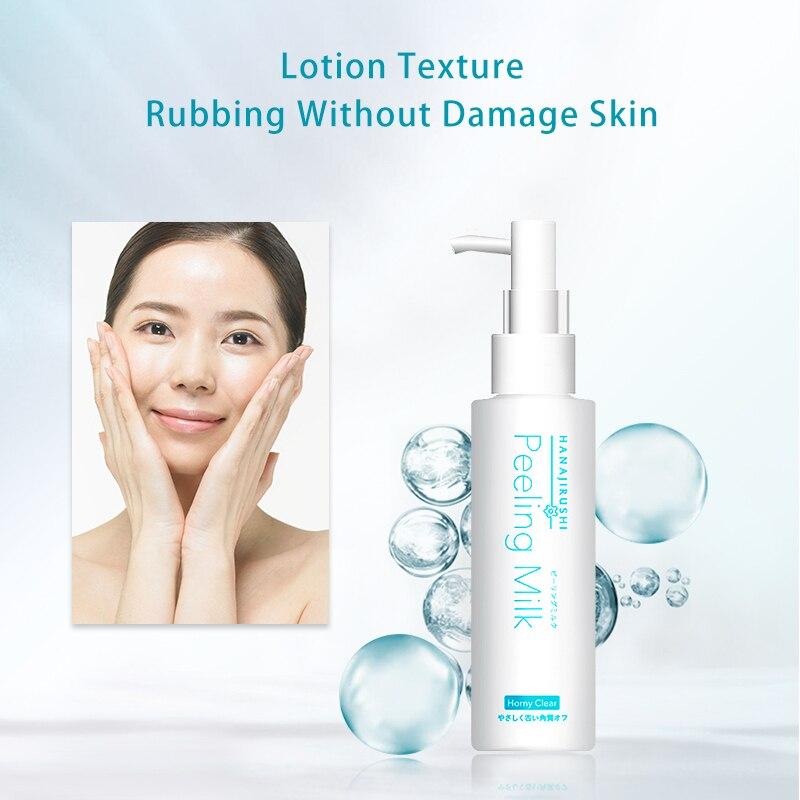 HANAJIRUSHI Facial Body Exfoliator Cream Peeling Milk Emulsion Scrub Polish Skin Remove Dead Skin Cell Horny Moisture Skin 120ml