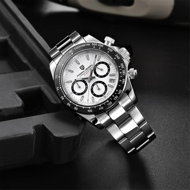 2021 New PAGANI Design Top Brand Men's Sports Quartz Watches Sapphire Stainless Steel Waterproof Chronograph Luxury Reloj Hombre 4