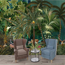 Milofi custom HD giant hand-painted tropical rainforest background wall-the charm of the forest(China)
