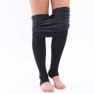Image 5 - S XL 8Colors Womens Winter Warm Leggings High Waist Thick Velvet Legging Solid All match Leggings Women