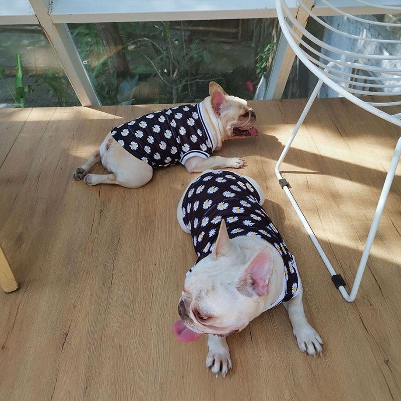 Clothing Chamomile Printed Summer Dog Vest  My Pet World Store