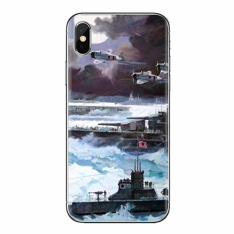 Kapal Angkatan Laut Transparan Soft Shell Cover untuk IPod Touch Apple Iphone 4 4S 5 5S SE 5C 6 6S 7 8 X XR X Plus MAX
