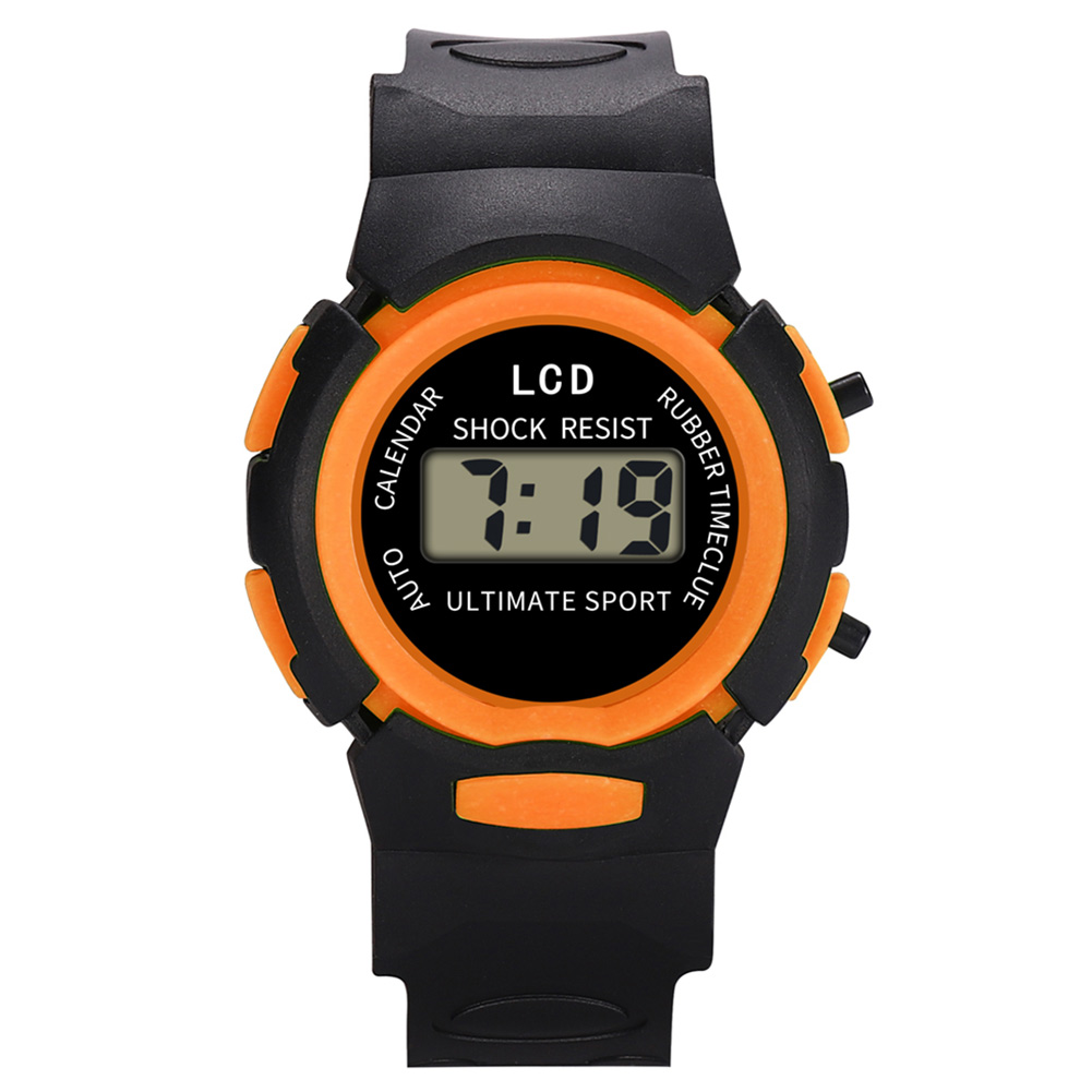 Fashion And Durable Kids Casual Electronic Watch Children Comfortable Silicone Sports Watches  B99