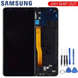 Nowy dla Samsung A7 2018 A750 SM-A750F wyświetlacz lcd wymiana ekranu dla Samsung A7 2018 A750FN wyświetlacz lcd moduł ekranu
