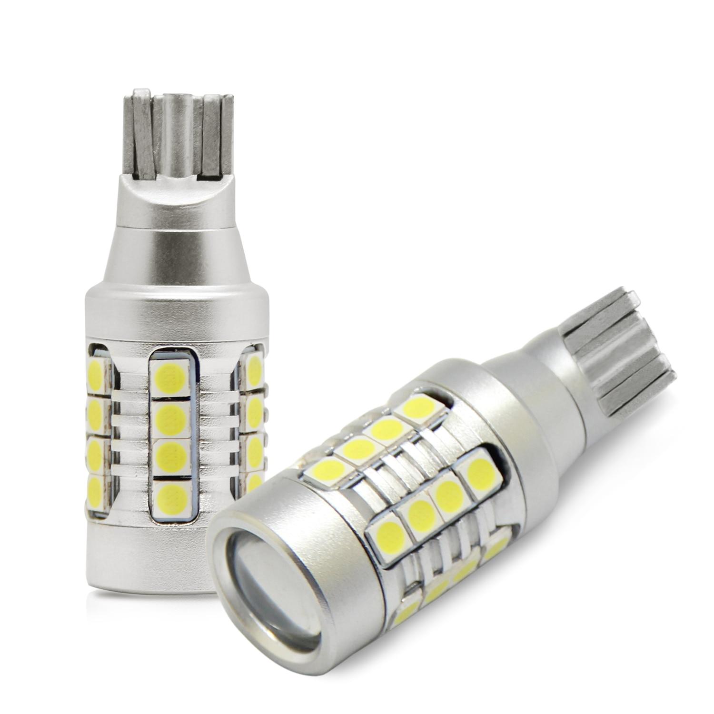 2 шт Автомобильный светодиодный T15 T16 912 921 W16W лампы 3030SMD 4000 люмен обратный Break парковки поворотники Лампа яркий белый Canbus Error Free