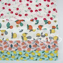160 centímetros * 50cm série de Frutas recém-nascidos vestuário vestido de algodão tecido da cama DIY patchwork pano de algodão tecido crianças handwork tecido