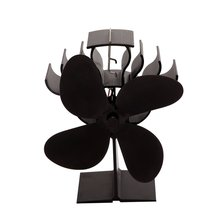 Fireplace Fan 4 Blade Thermal Power Conversion Wood Burner Ecological Fan Environmentally Friendly Quiet Family