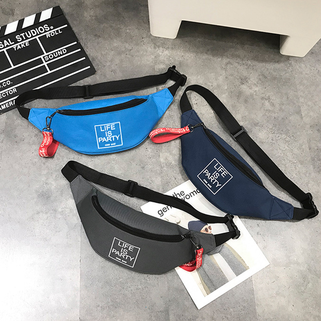 Unisex Sports Canvas Waist Bag Fanny Casual Chest Packs For Men Portable Travel Shoulder Crossbody Bags Bolsas Feminina#3.#15