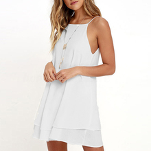 Women's Summer Dress Plus Size S-5XL Solid Color Loose Large Back Strap Sleeveless Maxi Beach Dress Casual 2019 New Fashion O9