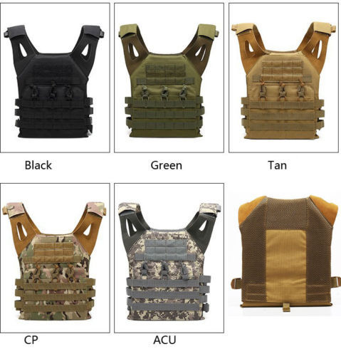 JPC Lightweight Tactical Vest Seals Combat Waistcoat Army Fans Outdoor CS Field Operations Protection Special Forces Equipment