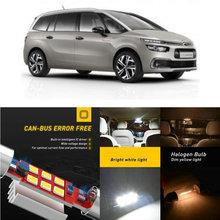 цена на LED Interior Car Lights For Citroen c4 picasso ii minivan c4 spacetourer 3d minivan Dome map lamp bulb error free