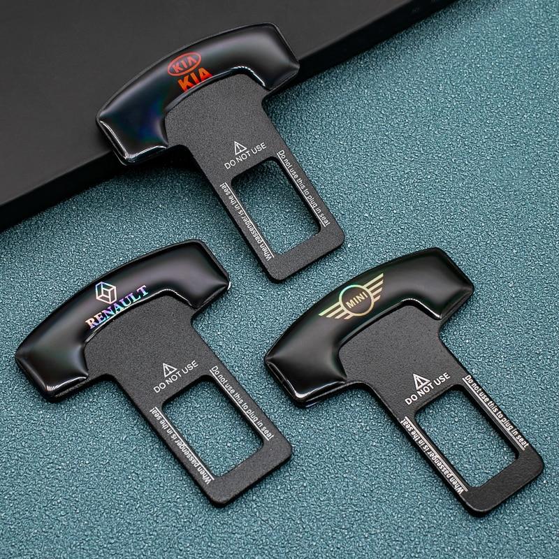 1/2 Pcs Zinklegering Autogordel Veiligheid Clip Riem Plug Voor Peugeot Kia Bmw Mini Hyundai Ford chevrolet Volkswagen Toyota Honda