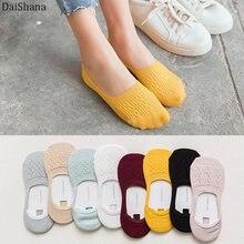 Meias femininas engraçadas, 5 pares meias curtas de algodão soltas no tornozelo, bonitas, verão, 36-43eur