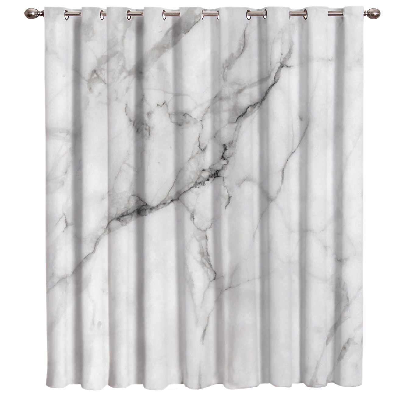 white marble crackle window treatments curtains valance decor bedroom kitchen fabric decor print kids curtain panels