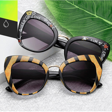 2019 new Top fashion Sunglasses Women Cat Eye Brand Designer Classic Fashion sexy Female Shades black Style Oculos De Sol UV400 стоимость