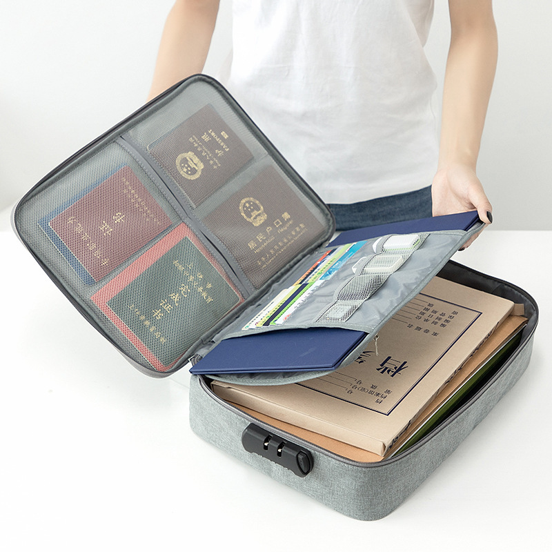 Travel Office Document Bag Organizer Papers Storage Pouch Credential Bag Diploma Storage File Pocket Multi-functional Travel Bag