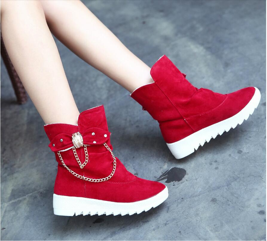 2019 Winter New Snow Boots Women's Boots Women's Tube Casual Bow Snow Boots Warm Cold Burning Feet Women's Boots Cotton Shoes 64