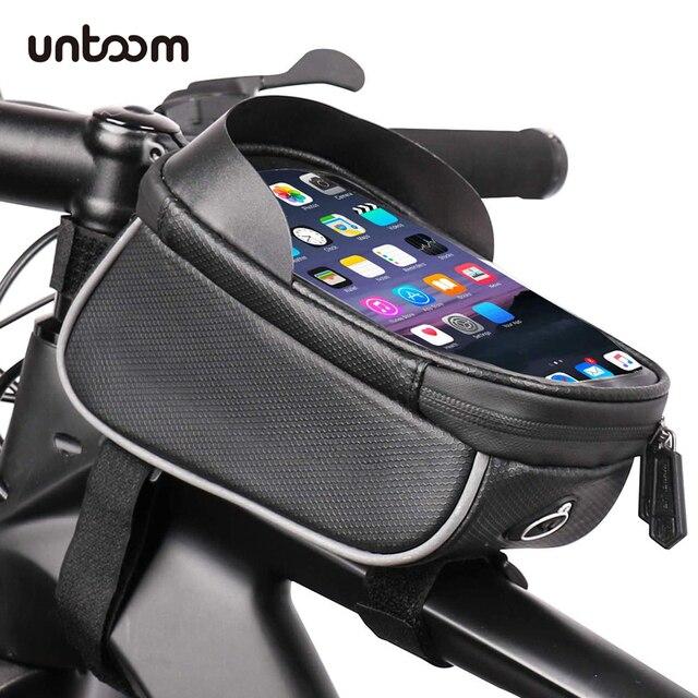 الدراجة دراجة للماء هاتف محمول حقيبة حامل MTB الجبهة إطار كيس أنبوب حالة 6.0 بوصة المعطف السرج حقيبة دراجة