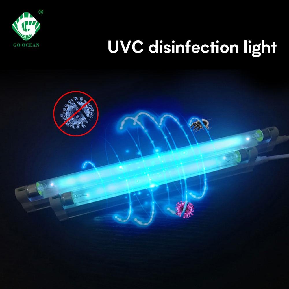 220V 30W 40W Ultraviolet Sterilizer Light UVC Ozone T8 Disinfection Tube Lights Kill Mite Dust 254nm Germicidal Indoor Lamp Shop