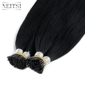 Image 2 - Neitsi  Remy I Tip Human Hair Extensions Double Drawn Stick Hair Natural Straight 24 inches