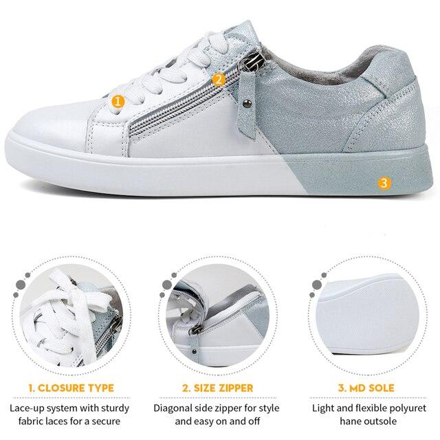 STQ 2020 جديد المرأة أحذية حقيقية أحذية رياضية من الجلد 2