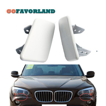 Pair Front L+R Headlight Lamp Unpaitend Spray Washer Cover Random Color Primed 51112993585 51112993586 For BMW X1 E84 2009-2012 image