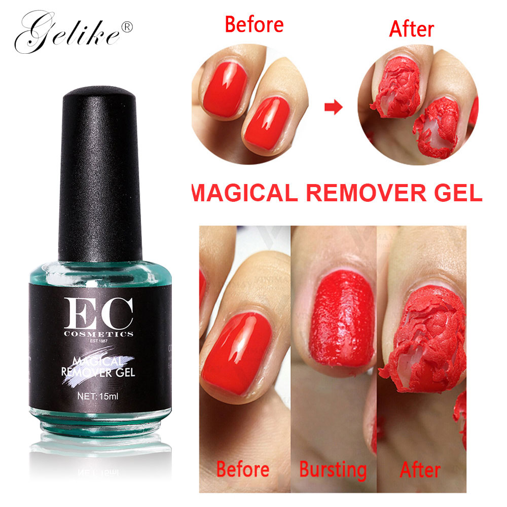 Magic Remover Gel Nail Polish Remover Within 2-3 MINS Peel off Varnishes Base Top Coat without Soak off Remover Gel Nail Polish