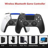 PS4 Joystick Wireless 6-Achse Druck Sensoren Spiel Controller Gamepad mit Lautsprecher LED Licht Bar Für Ps 4 PC