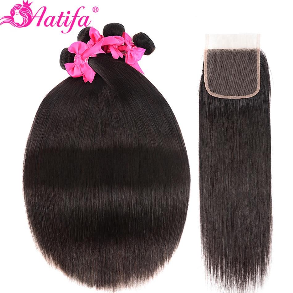 H216ad0afd9d7463ba9c8ea63851a5009F Aatifa Brazilian Straight Hair Bundles With Closure Human Hair Bundles With Closure Remy Bundles With Closure Hair Extension