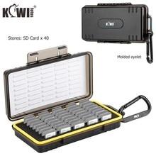 Organizzatore della scatola di immagazzinaggio del supporto della scheda di memoria impermeabile a 40 slot per SD SDHC SDXC NS PSV PS Vita Nintendo Switch carte di gioco