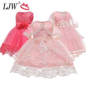 Vestido neonatal 2020 verão bebê menina vestido 0-3years meninas vestidos de aniversário flor festa de princesa vestido de meninas roupas