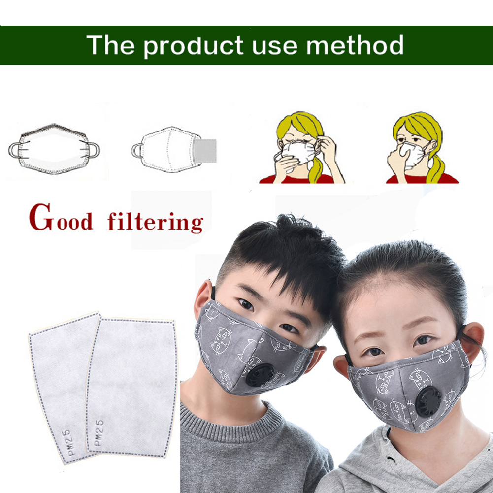 2pcs Replacement Chip PM2.5 Mask Replacement Core Filter For Children