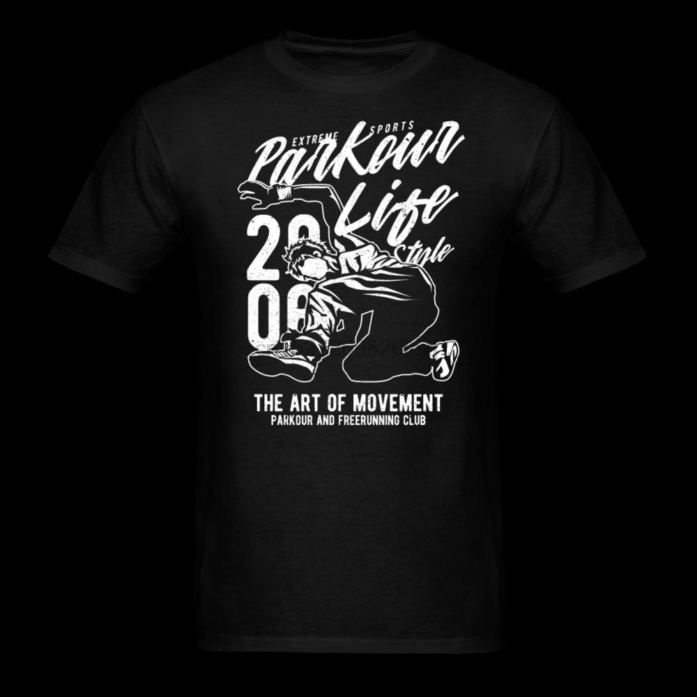 Herren Unisex Kurzarm T-Shirt Freerunning Comicfigur Parkour Funsport freestyle