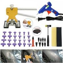 1 Set Car Lifter Pulling Car Body Paintless Car Dent Repair Removal Tool Kit Car Repair Sheet Metal Tools Set Golden Puller